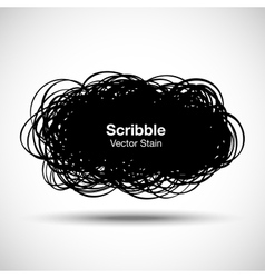 Hand Drawn Scribble Shape vector image