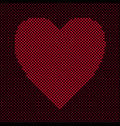 heart shaped background design from red dots - vector image vector image