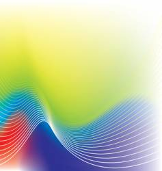 rainbow wave background vector image vector image