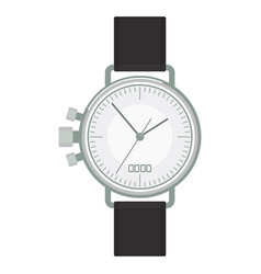 silver wristwatch image vector image
