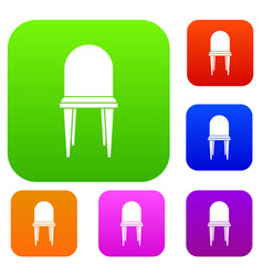 chair set collection vector image