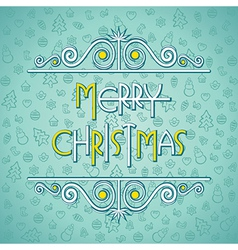 creative merry Christmas greeting background vector image
