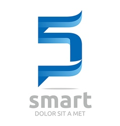 letter s combination 5 lettemark design vector image