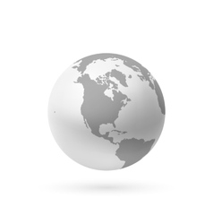 Monochrome earth icon isolated on white vector image vector image