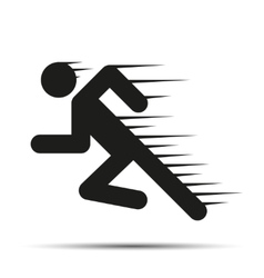 Running people in motion simple symbol of run vector