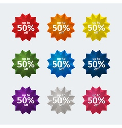 Sales stickers vector image