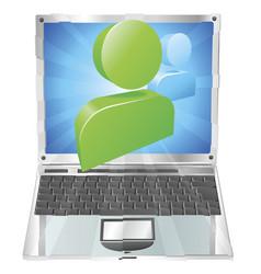 social media icon laptop concept vector image vector image