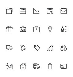 Trade Outline Icons 5 vector image vector image