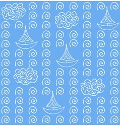 Watercolor blue color seamless pattern vector