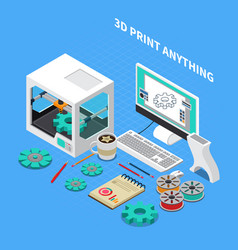 3d printing industry background vector