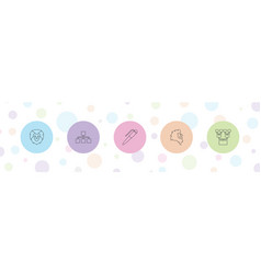 5 company icons vector