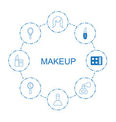 8 makeup icons vector