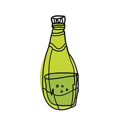 A bottle is placed vector
