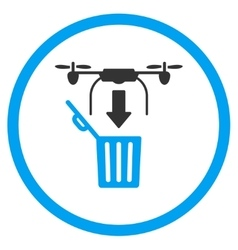 Air Drone Drop Trash Icon vector