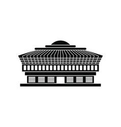 Airport black simple icon vector image