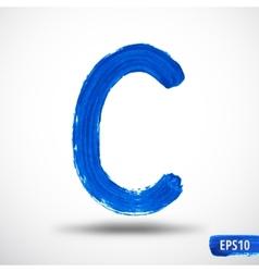 Alphabet letter c watercolor vector
