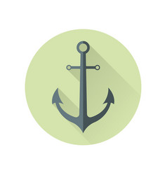 anchor in flat style vector image