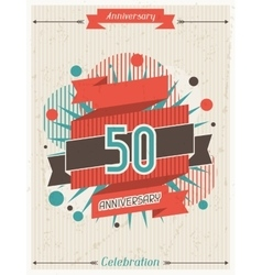 Anniversary abstract background with ribbon vector