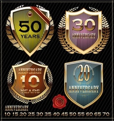 Anniversary design element collection vector image