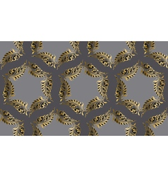 Art Nouveau style round pattern vector image