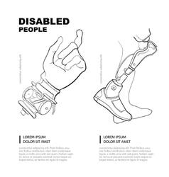 Artificial limb vector