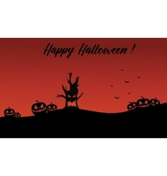 Backgrounds halloween pumpkin and monster vector image