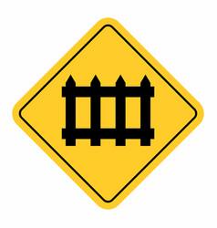 barrier railway cross traffic sign vector image