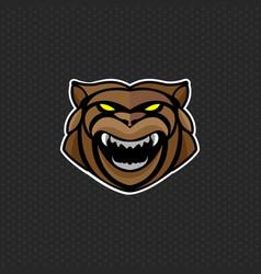 Bear logo design template head icon vector