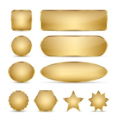 Blank elegant golden buttons vector
