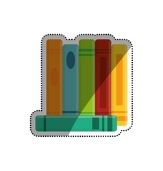 Books library education vector