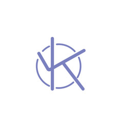 business corporate letter k logo design vector image