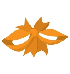 Cartoon orange ribbon vector