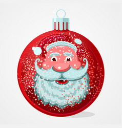 christmas gift santa claus face is reflected in vector image