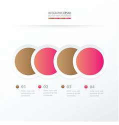 circle overlap infographic pink and sugar color vector image
