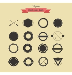 Collection of badgets and labels vector