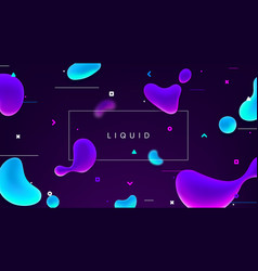 Colorful banner with abstract fluid shapes vector
