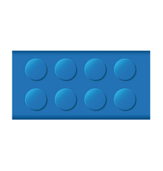 colorful lego rectangle shape block icon toy vector image