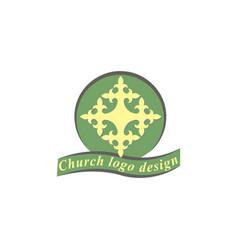cross logo design template vector image
