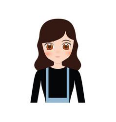 Cute anime girl character vector