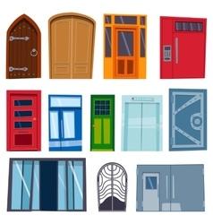 Doors isolated vector