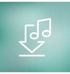 Downloaded music thin line icon vector