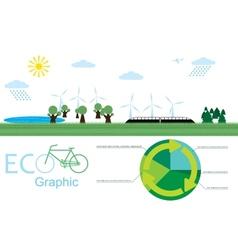 eco graphic vector image