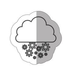 figure cloud snowing icon vector image