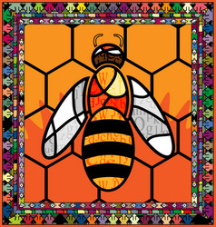 Frame and bee vector