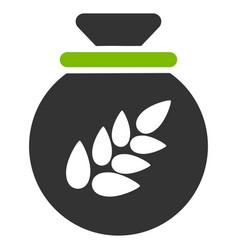 Grain harvest sack flat icon vector