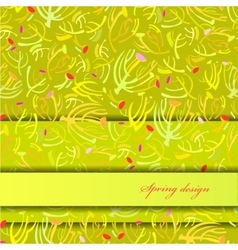 Green sprig background vector image