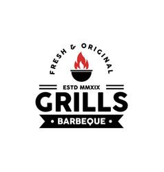 grills logo design inspiration vector image