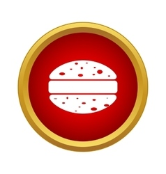 Hamburger icon in simple style vector image