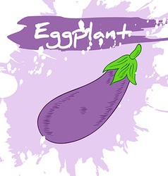 hand drawing of vegetable with label and artistic vector image