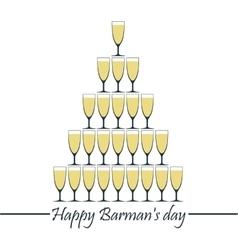 Happy Barman day vector image